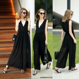 image of NJ EuropeFashion Palazzo Jumpsuit with Inner