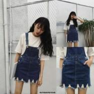image of NJ DenimFashion Trendy Jumpsuit Dark Blue