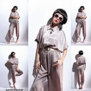 image of NJ EuropeFashion Trendy Collar Jumpsuit