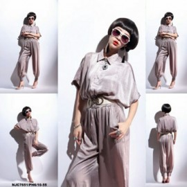 image of NJ EuropeFashion Trendy Collar Jumpsuit