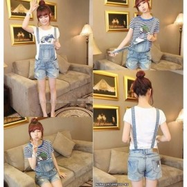image of NJ DenimFashion Trendy Short Jumpsuit