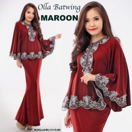 image of NJ SeoulFashion 2 IN 1 Kurung Batwing with Skirt