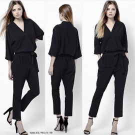 image of V-Neck Stylish Jumpsuit