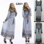 READY STOCK❗ NJ Fashion Retro Printed Jubah Dress