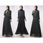 Double Layer Top With Long Inner Dress - 3 in 1
