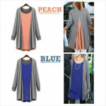 NJ EuropeFashion Joint Mix Color Casual Top