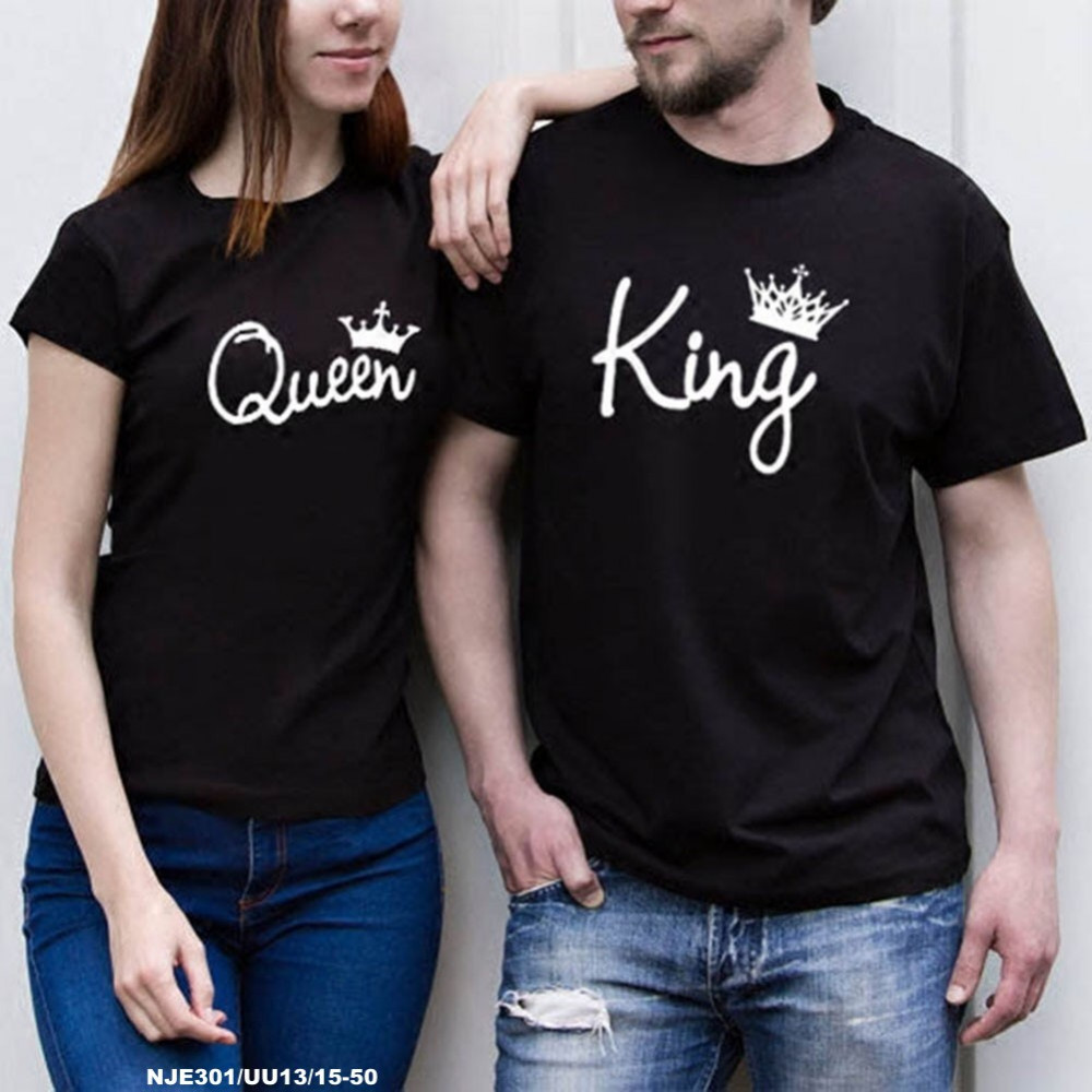 READYSTOCK  NJ Boutique Couple-Set Collections King & Queen Trendy Top (2pcs)