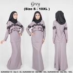 NJBoutique.RTW Exclusive Baju Kurung Collections - Grey