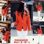 NJ Fashion Trendy Polka Lining Blazer