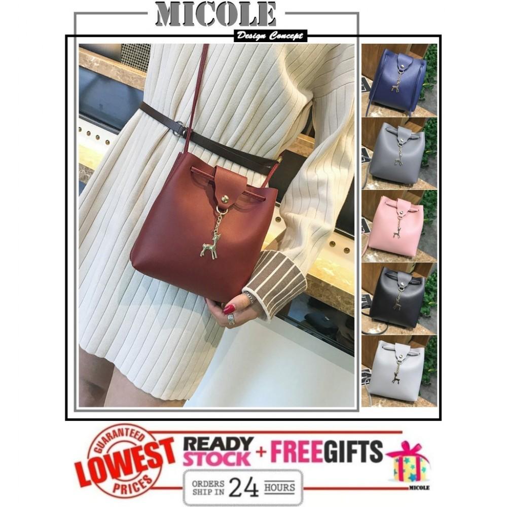 READY STOCK>>MICOLE Deer Mini Shoulder Bag Handbag Women Sling Bag SB2065