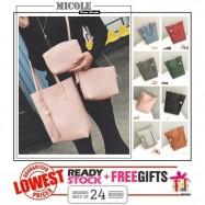 image of Ready Stock >>MICOLE 3 in 1 Shoulder Bag Handbag Women Sling Bag Beg BS3003