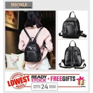 image of  Ready Stock >> MICOLE Korean Bag Casual Backpack Travel Bag Pack Beg BP1009