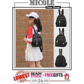 image of Ready Stock>> MICOLE New Fashion Ladies Casual Backpack Travel Bag BP1041