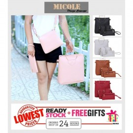 image of Ready Stock>> MICOLE 3 in 1 Shoulder Bag Handbag Women Sling Bag Beg BS3008