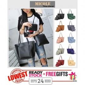 image of Ready Stock >> MICOLE 4 in 1 Handbag Women Shoulder Bag Sling Bag BS3014