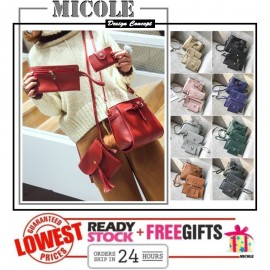 image of Ready Stock>> MICOLE 4 in 1 Shoulder Bag Handbag Women Sling Bag Beg BS3016