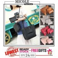 image of Ready Stock>> MICOLE 4 in 1 Shoulder Bag Handbag Women Sling Bag Beg BS3009