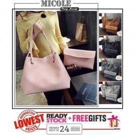 image of READY STOCK >> MICOLE 2 in 1 Shoulder Bag Handbag Women Sling Bag Beg BS3001