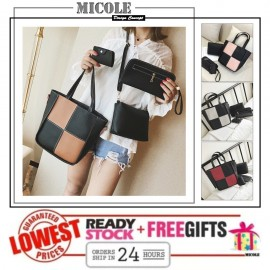 image of MICOLE 4 in 1 Shoulder Bag Handbag Women Sling Bag Beg BS3025