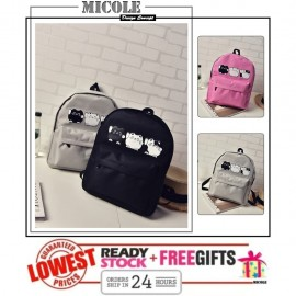 image of Ready StocK>> MICOLE 3 LITTLE CAT Backpack School Bag Travel Bag Pack BP1017