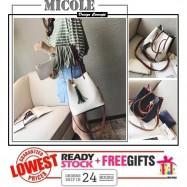 image of READY STOCK>> MICOLE Dual Color Shoulder Bag Handbag Women Sling Bag SB2071