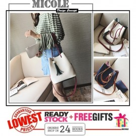 image of READY STOCK>> MICOLE Dual Color Shoulder Bag Handbag Women Sling Bag SB2071