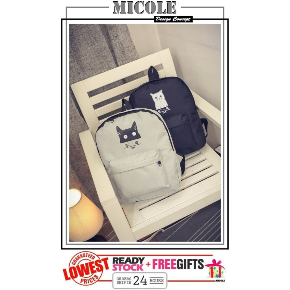 Ready Stock>>MICOLE CAT Rucksack Backpack School Bag Travel Bag Pack BP1015