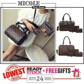image of Ready Stock>>MICOLE 3 IN 1 Handbag Set Shoulder Bag Sling Bag Purse BS3027