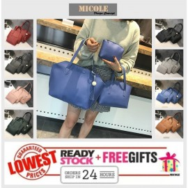 image of Ready Stock>> MICOLE 3 IN 1 Shoulder Bag Handbag Women Sling Bag Beg BS3018
