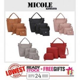 image of Ready Stock>> MICOLE 4 IN 1 Shoulder Bag Handbag Women Sling Bag Beg BS3021