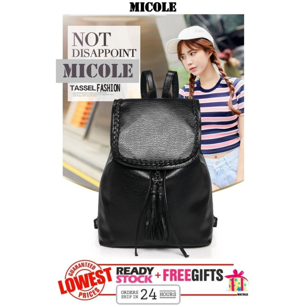 Ready Stock >> MICOLE Casual Backpack Travel Bag Pack Beg Bags Women BP1004