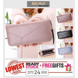 image of <<Ready Stock>> MICOLE Long Wallet Women PU Leather Zip