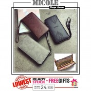 image of Ready Stock>> MICOLE Long Wallet Women PU Leather Zip Pouch Purse WF4011