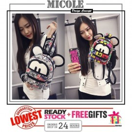 image of Ready Stock>> MICOLE Mini Lovely Mickey Backpack Travel Bag Pack Beg BP1005