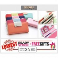 image of Ready Stock >> MICOLE Bird Logo Premium Long Wallet Women Purse WF4005
