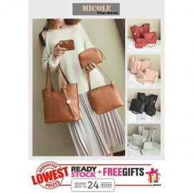 image of Ready Stock>> MICOLE Korean Shoulder Bag Handbag Women Sling Bag Beg SB2008