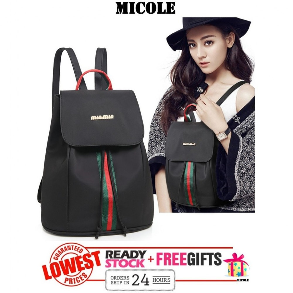 Ready Stock>> MICOLE Nylon Oxford Backpack Travel Bag Pack Bags Women BP1001