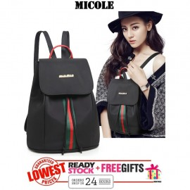 image of Ready Stock>> MICOLE Nylon Oxford Backpack Travel Bag Pack Bags Women BP1001