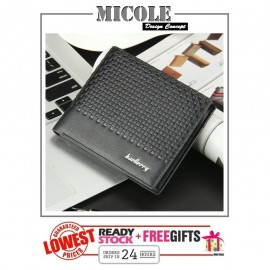 image of ReadyStock>> MICOLE Premium Short PU Leather Men Purse Wallet Men Bag WM1003