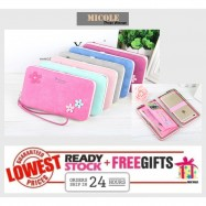 image of Ready Stock >> MICOLE Zip Purse Long Wallet Women Pouch Purses Women WP5001