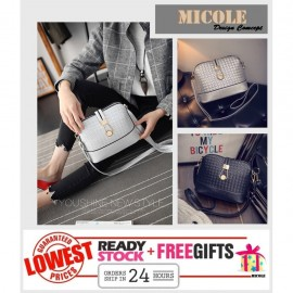 image of READYSTOCK>> MICOLE Metal Button Shoulder Bag Handbag Women Sling Bag SB2009