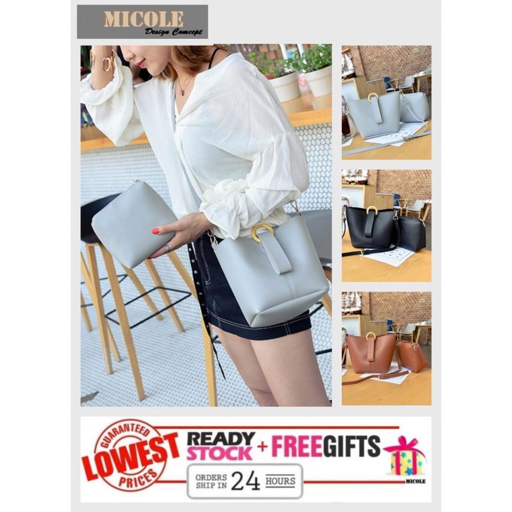 Ready Stock>> MICOLE 2 IN 1 Shoulder Bag Handbag Women Sling Bag Beg BS3005