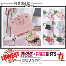 image of Ready Stock >> MICOLE KOREAN STYLE SHORT WALLET WOMEN PURSE WF4009