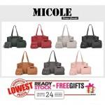 Ready Stock>> MICOLE 4 in 1 Shoulder Bag Handbag Women Sling Bag Beg BS3022