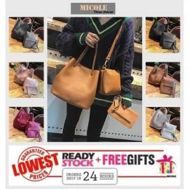 image of Ready Stock>> MICOLE 3 in 1 Shoulder Bag Handbag Women Sling Bag Beg BS3019