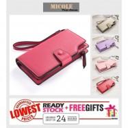 image of ReadyStock>> MICOLE Long Wallet Women PU Leather Zip Pouch Lady Purse WF4006