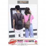 image of Ready Stock✨ MICOLE Canvas Sling Bag Men Women Backpack Travel Bag BP1025