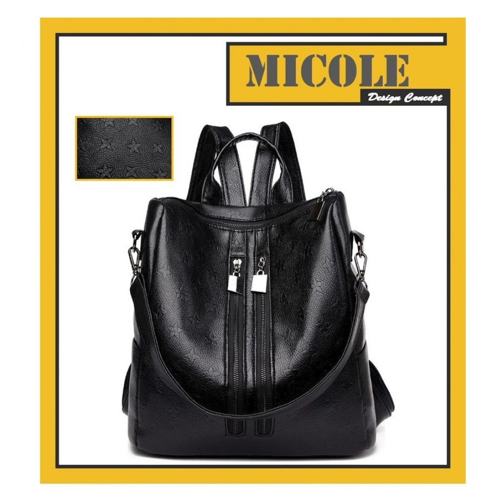Ready Stock >> MICOLE Star Pattern Casual Backpack Travel Bag Pack Beg BP1027
