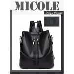 Ready Stock >> MICOLE Double Zip Casual Backpack Travel Bag Pack Beg BP1036