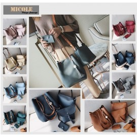 image of Ready Stock >> MICOLE 4 in 1 Shoulder Bag Handbag Women Sling Bag Beg BS3015